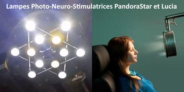 Lampes Photo-Neuro-Stimulatrices PandoraStar et Lucia